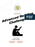 3rd grade 2019-2020 advanced reading challenge student packet