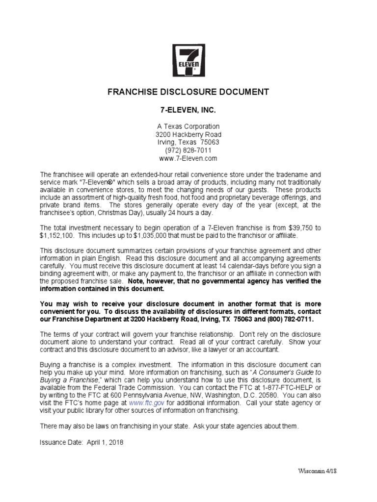 7 Eleven Pdf Franchising Lawsuit
