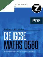 IGCSE Mathematics 0580 - Notes v2