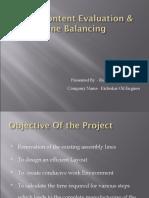 Work Content Evaluation & Line Balancing