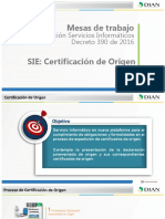 SIE Certificados de Origen