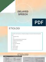 delayed speech
