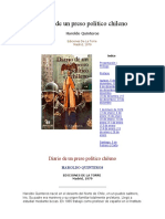 Diario de Un Preso Político Chileno Haroldo Quinteros