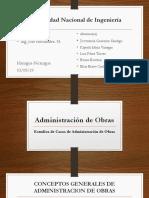 Trabajo Administración de Obras