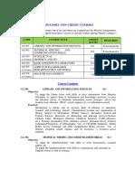 Compulsory Pg Non Credit Course