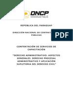 Pliego de Bases y Condiciones Derecho Administrativo