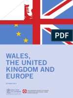 Wales, The United Kingdom and Europe Report
