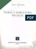 Teoria y Estructuras Sociales - Robert Merton