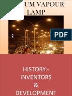 Sodium Vapour Lamp