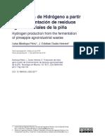 Producción de Hidrógeno a Partir de La Fermentación de Residuos Agroindustriales de La Pi{A