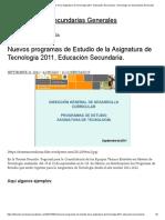 Tecnologia Secundarias Generales 2019