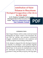 The Contribution of Saint Gregory Palamas to Hesychasm