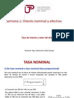 Semana 2 Tasa Nominal y Efectiva y Ejercicios (1)
