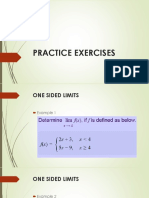 Limits of a function (practice)