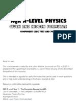 A Level Physics Hidden Formulae