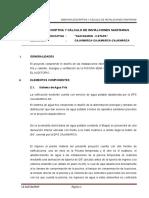 Memoria Descriptiva y Calculo de Sanitarias - San Ramon
