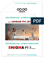 Enigma Upsc Ultimate Simulation 2019 7q