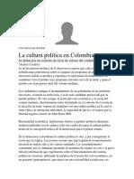 La Cultura Política en Colombia