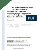 Erausquin C. (2014). La Teoria Historico-Cultural de la Actividad como artefacto mediador para construir Intervenciones e Indagaciones.pdf