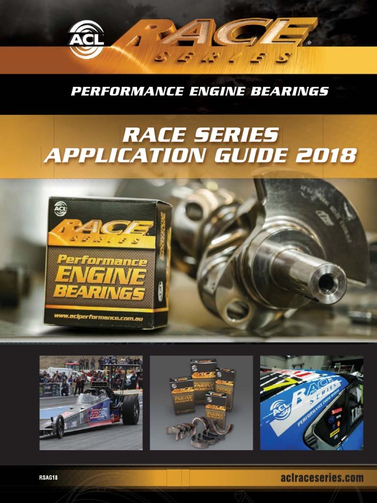 1998cc SR20DE//DET Race Series ACL 5M2964H-.025 Main Bearings For Nissan 4