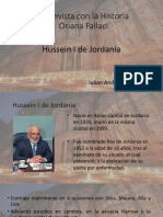 Hussein I de Jordania - Julián a Osorio