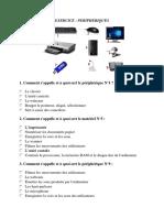 Exercice Informatique périphérique et SE