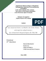 Les Interactions verbales au sein d'une entreprise algerienne.pdf