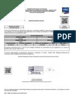 Certificacion de Datos Nairelys