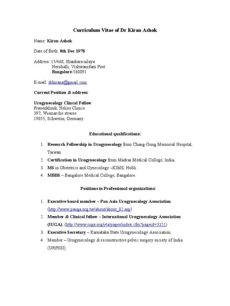 Curriculum Vitae of Dr Kiran Ashok (2)   Female Mammals