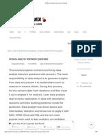 Interview Questions Data Analytics