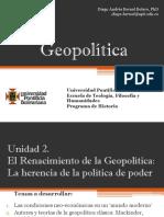 Unidad 2 El renacimiento de la Geopolítica (Avances)