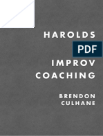 Harolds and Improv Coaching by Brendon Culhane