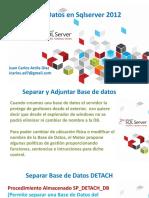 Separar y Adjuntar Base de Datos
