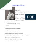 Lace Capelet Knitting Pattern Free