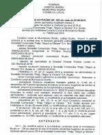 Proiect de hotărâre privind majorarea BVC al SC Pieţe Tâguri şi Oboare 2019.09.09