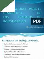 ORIENTACIONES  PARA EL DESARROLLO DE LOS  TRABAJOS DE INVESTIGACIÓN