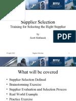 supplier selection