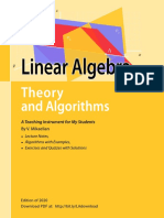 Linear Algebra, Theory and Algorithms