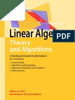 Linear Algebra, Theory and Algorithms