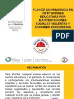 PLAN DE CONTINGENCIA INSTITUCIONAL POR MANIFESTACIONES SOCIALES VIOLENTAS Y ACCIONES TERRORISTAS