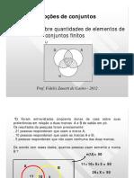 Problemas sobre quantidades de elementos de conjuntos finitos