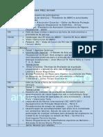 Programa Preliminar Cbho19