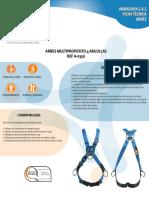 Ficha Técnica de Arnés Multipropósito 4 Argollas en v Armadura A0350 - Descargada de Serviguantes.com