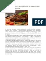 La Carne de Bovino-mejor Fuente en Hierro