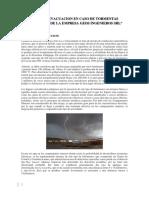 Plan de Evacuacion en Caso de Tormentas Electricas - Empresa Geos Ings.