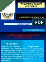 01 Introduccion s La Matematica Financiera