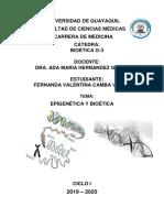 Epigenetica y Bioetica