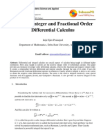 Negative Integer and Fractional Order Differential Calculus by Ejiro Inije.