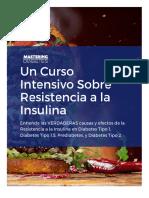 Curso Intensivo sobre la resistencia a la Insulina