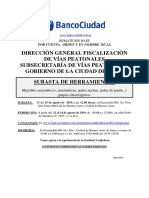Condiciones Venta Subasta Banco Ciudad